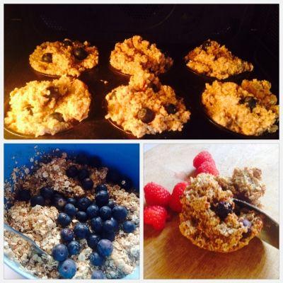 power-ontbijtmuffins met havermout, quinoa, kokos en superfruit