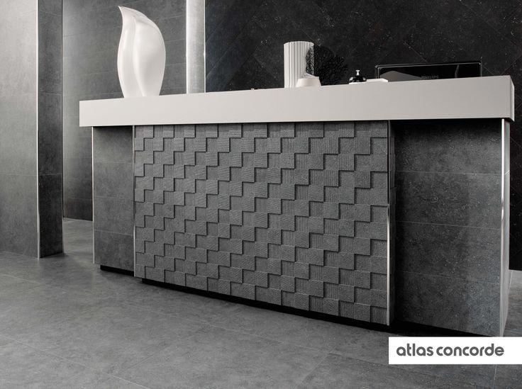 #SEASTONE gray | #Mosaic | #AtlasConcorde | #Tiles | #Ceramic | #PorcelainTiles