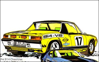 Porsche 914 - in Michel Vaillant (1971). Author: Jean Graton