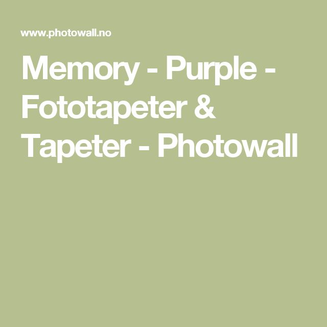 Memory - Purple - Fototapeter & Tapeter - Photowall