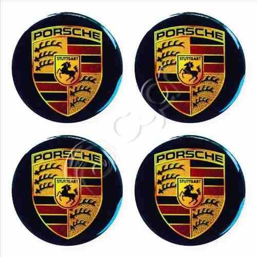 Tapacubos Porsche Brillantes En Alto Relieve - X 4 Unidades - U$S 6,50