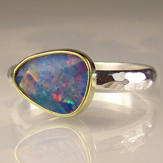 Opal Ring-Sullie's birthstone! Love the silver/gold combo to coordinate with my DY bracelet!