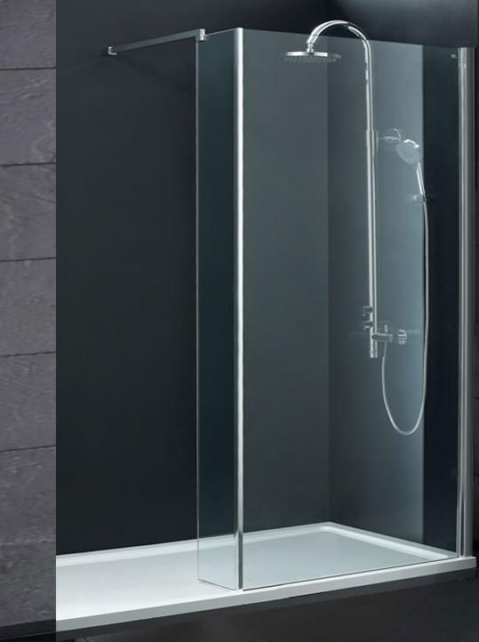 indi x 700 8mm walk in shower enclosure inc tray and waste 1800x700