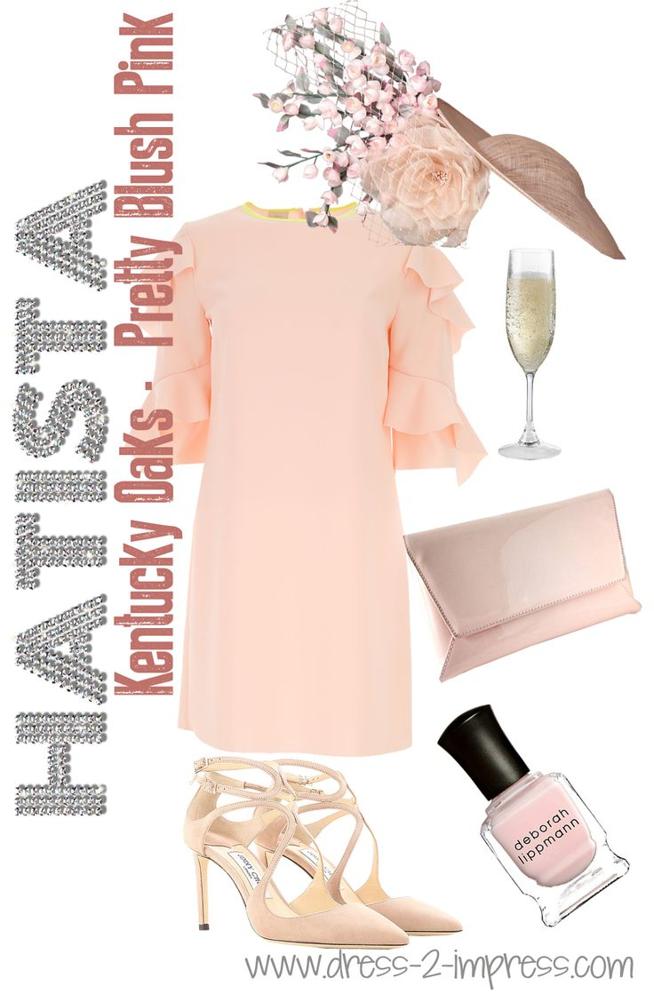 """Kentucky Oaks - """"The Pink Day"""" - How to Wear Pastels for Daywear - Tips on Wearing Pastels from THE HATISTA www.dress-2-impress.com. Outfit Ideas for the Kentucky Oaks, Kentucky Derby, Royal Ascot, Melbourne Cup, Dubai World Cup, other Races, Mother of the Bride or guests of a wedding #wearpastels #pastels #fashionista #floraldresses #derbyoutfits #kentuckyderby #styleguide #outfittips #outfitideas #outfits #motherofthebride #easter #easterweddings"""