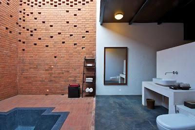 Diseño de baño en la India moderna