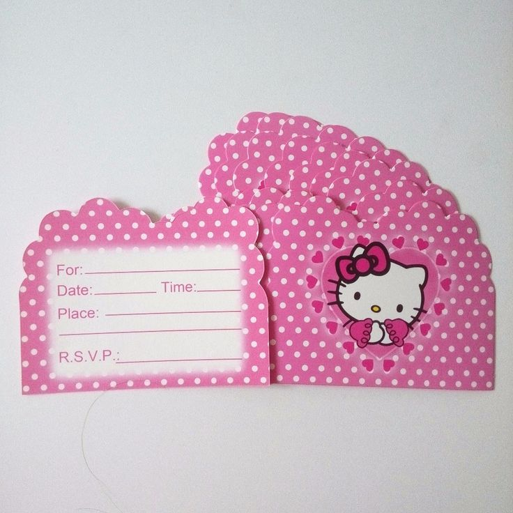 design printable invitation cards online free%0A   pcs bag Hello Kitty Invitation Card   Price         u     FREE Shipping