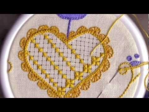 Punto de estrella y cuadro, Técnica Hardanger. Editorial Toukan - YouTube