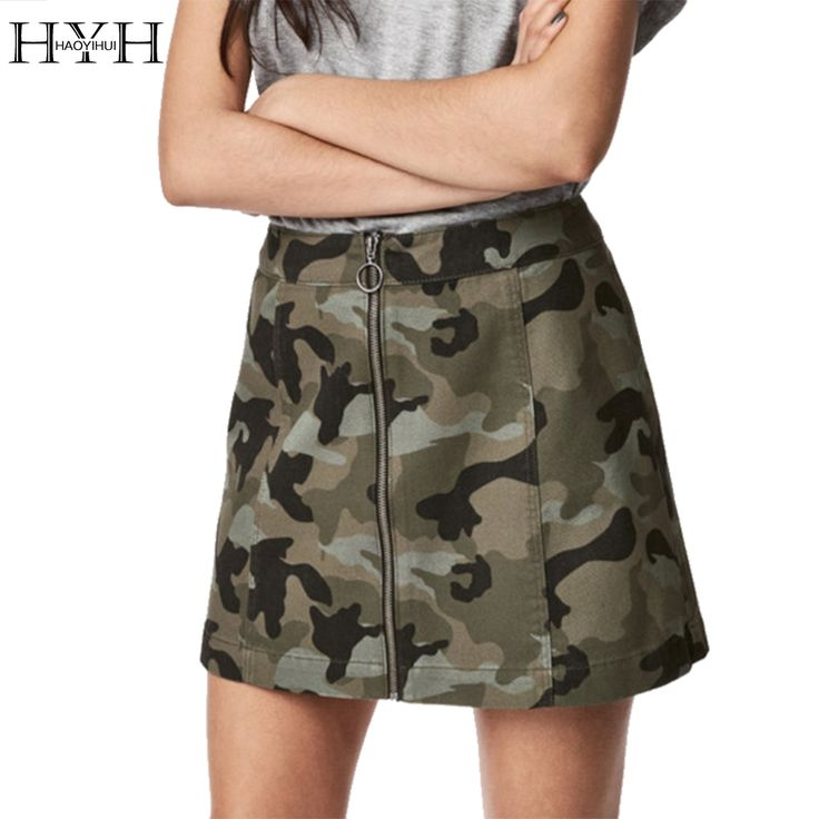 Find More Skirts Information about HYH HAOYIHUI Sexy Casual Camouflage Skirts Women Zipper Print Sexy High Waist Mini Skirt Preppy Summer A line Summer Skirts,High Quality camouflage skirts,China camouflage skirt women Suppliers, Cheap mini skirt from HAOYIHUI MODA Store on Aliexpress.com