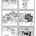 6 images séquentielles de l'album: les trois petits cochons de Paul-François et Gerda, éditions du Père Castor