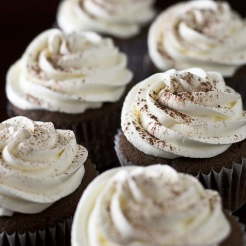Nutella Cupcakes + Cream Cheese Frosting by Sugar and Snapshots