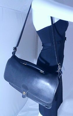 Vintage Coach Colebrooke Black Leather Briefcase Bag 5181