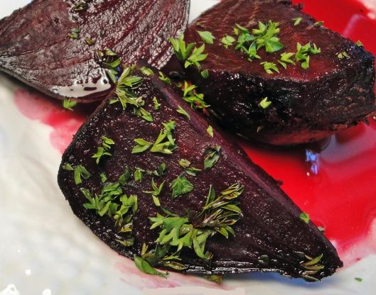 Beets in Sweet Orange Sauce (Middle East)