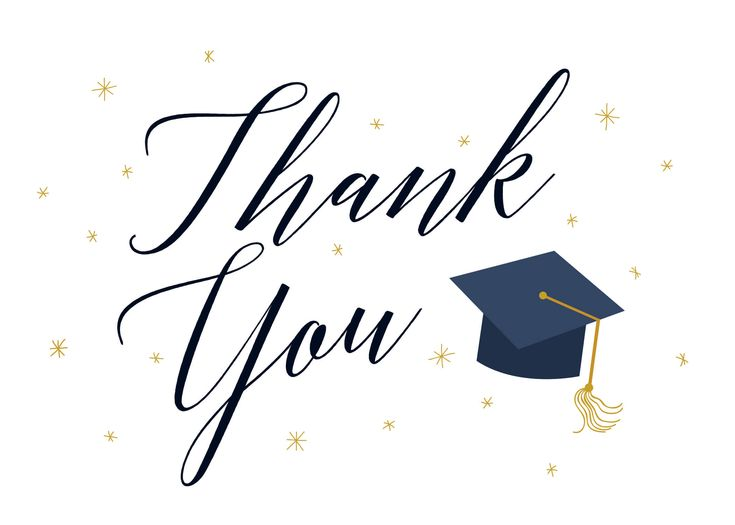 Graduate script free graduation thank you card in 2020