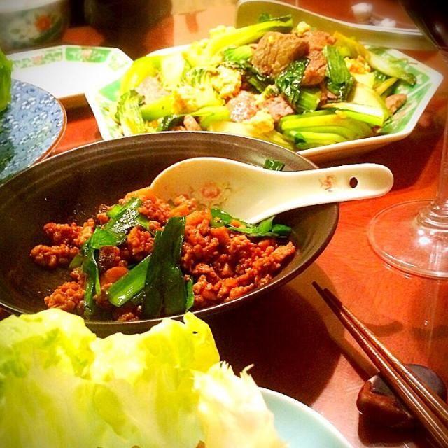 子供達がお腹が空いてて…慌てて撮った写真です(>_<) - 44件のもぐもぐ - 今日は中華‼︎レタス包みと牛肉と青梗菜のオイスターソース炒め by 72Yu18