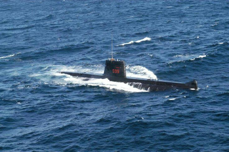 SAS Johanna van der Merwe on patrol. French Daphne submarine in service with the South African Navy.