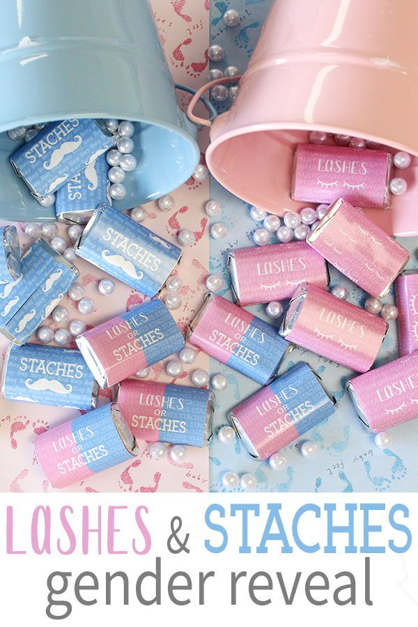 45 Stickers Baby Gender Reveal Party Mini Candy Bar Wrappers