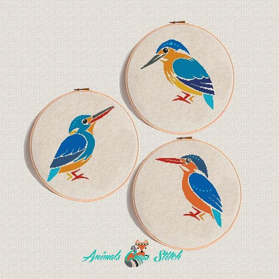 Kingfisher-counted cross stitch chart