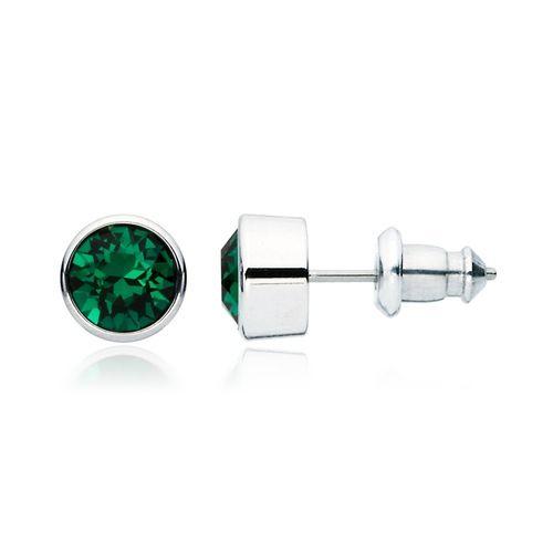 Harley Emerald Crystal Stud Earrings with Swarovski® Crystals
