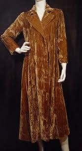 Vintage brown velvet coat