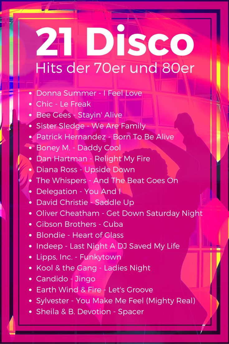 21 Disco Hits der 70er und 80er #DiscoSongs #70er #80er #Disco #Hits