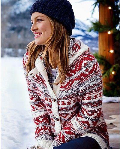Stine Collection Handknit Sweater | Eddie Bauer--love big-chunky-winter sweaters!