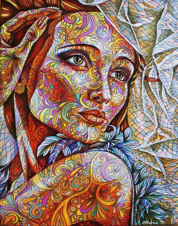"Jekaterina Razina,Oil, Painting """"Portrait""""....freaking amazing lol"