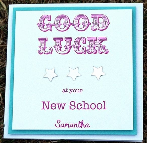 Good Luck Card Template Unique Green And Cream Card Use This Template Good Luck Word Good Luck Cards Free Printable Card Templates Goodbye And Good Luck