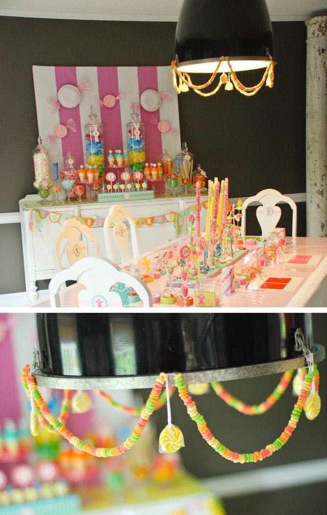 candyland birthday love the placemats and name