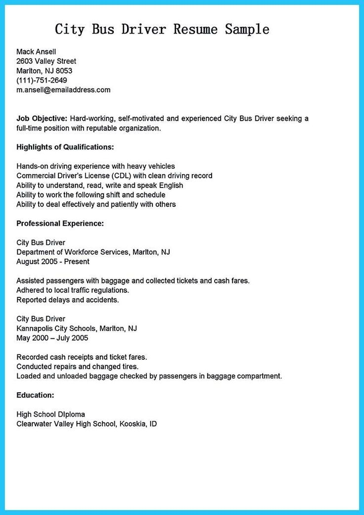 truck driver resume no experience lovely bus driver cover letter with no experience awesome