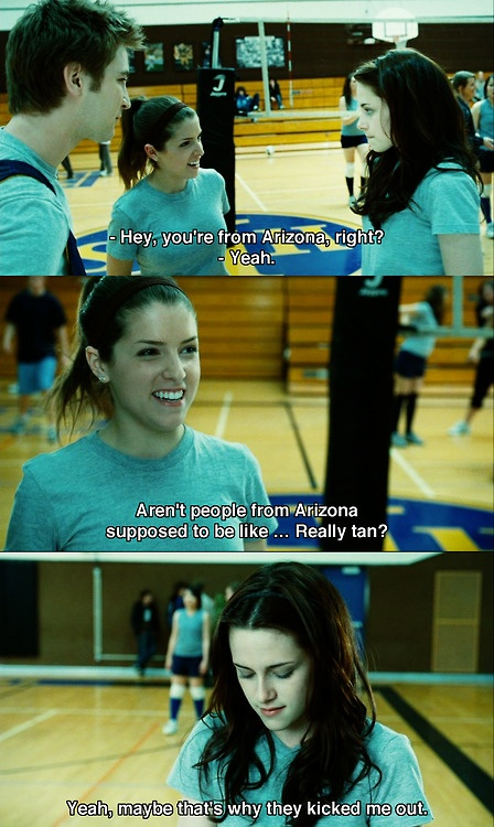 Twilight-- just realized the other day that Jessica is Becca from pitch perfect!