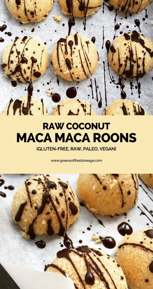 My Raw Paleo Coconut Maca Maca Roons are suitable for raw, vegan, gluten free & Paleo diets. They're delicious & you don't need a dehydrator to make them!