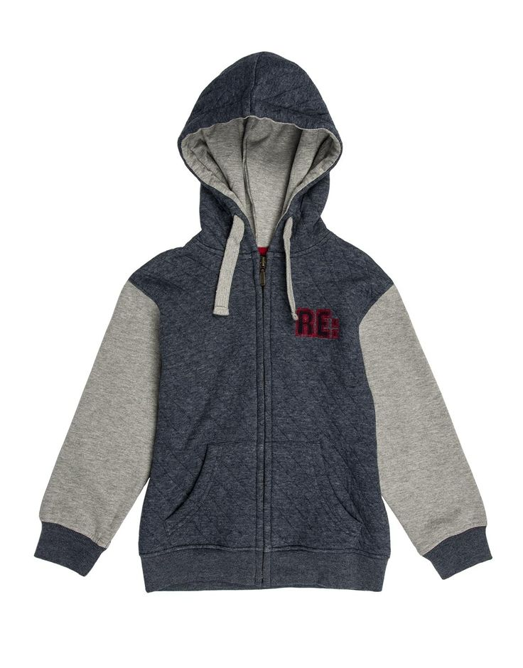 Quilted Colour Block Hoodie
