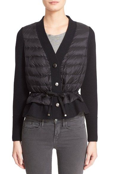 Moncler Quilted Down Front Wool Cardigan $660.00  #BestRevews #fashion! #WomensClothing