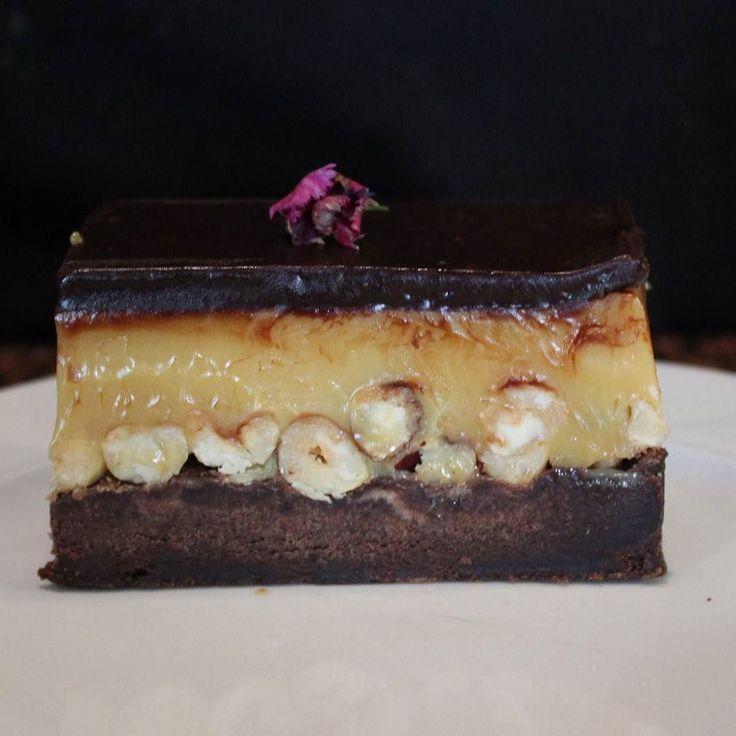 Chocolate caramel hazelnut slice because ..FRIYAY!