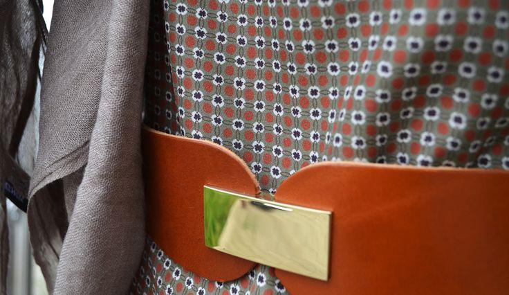 Ottodame Dress £120, Scarf (cotton wool mix) £20, Sinequanone Belt £85,