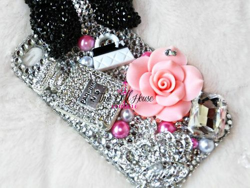 Fab Fashion Themed Bling iPhone 4/4s Cover by TheDollHouseCouture