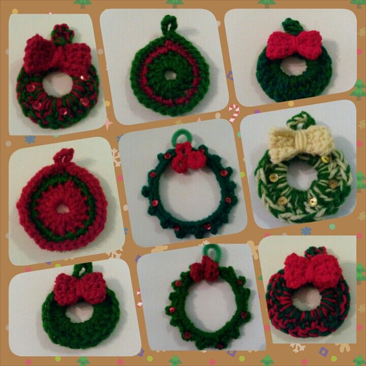 Crochet Christmas ornaments (no pattern here)
