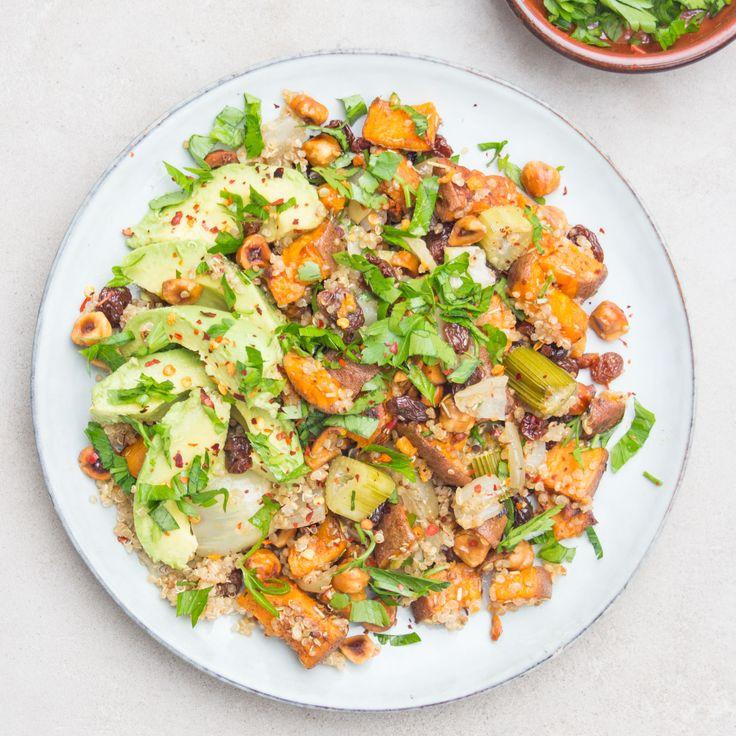 Quinoa, Sweet Potato & Raisin Salad - DeliciouslyElla