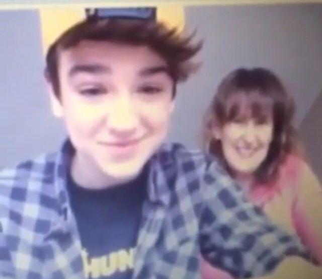 Mac Harmon with his mom Karen