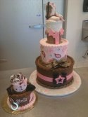 Western theme baby cake