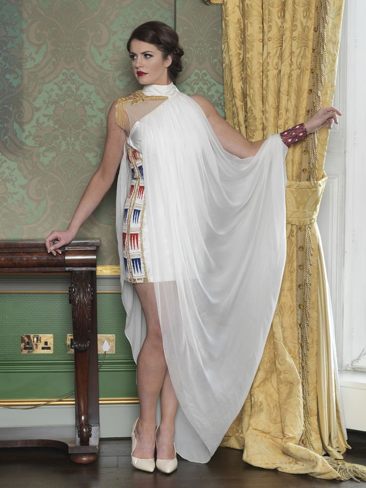 Dress inspired by Sumerian Harp. Taken from 2015 wedding collection by Ginan Abbas. www.goldenstitch.ie