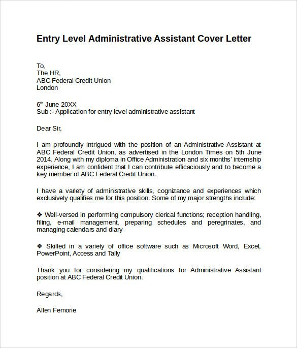 Marketing Assistant Cover Letter Entry Level Lovely Entry Level