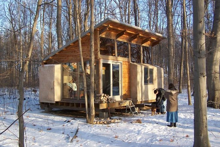 Straw Bale Bunk House... This would be great with northern facing windows for studio