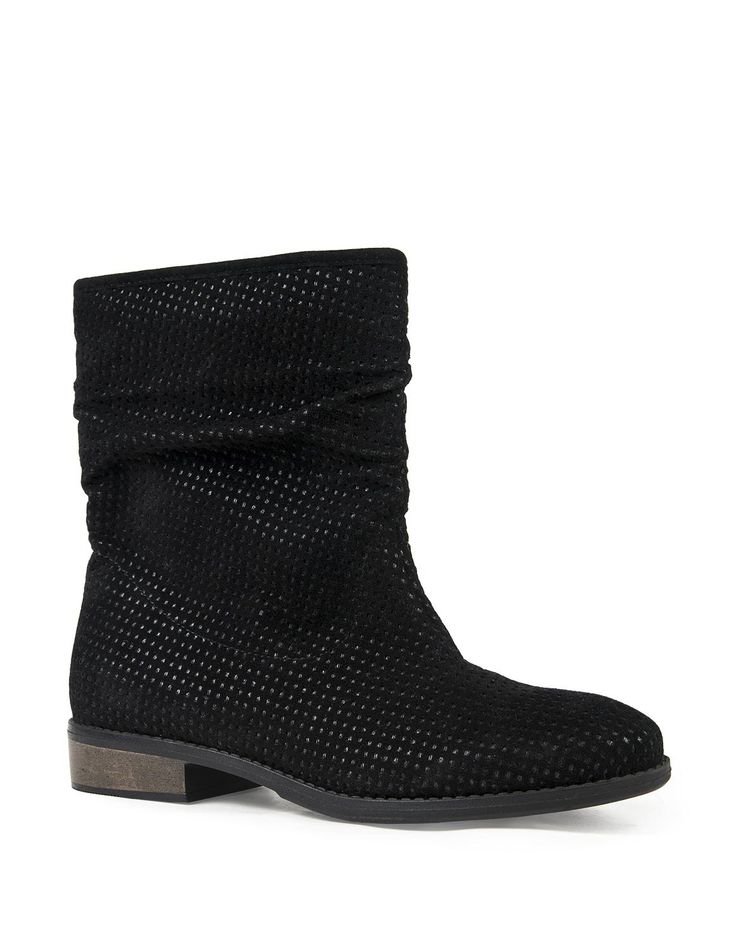 Perforated Slouch Boots