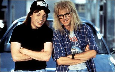 Wayne's World!Halloweencostumes, 90S Movie, Halloween Costumes, Waynes World, Costume Ideas, Garth, Wayne World, Favorite Movie, Costumes Ideas
