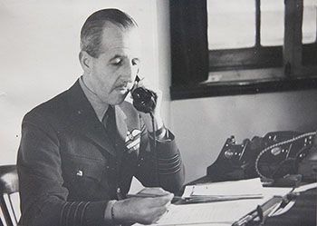 """Group Captain John Verney Senior Controller at the Uxbridge bunker. """"The Germans would frequently put up 'spoof' raids with the deliberate intention of 'foxing' our controllers, so that squadrons were ordered to patrol lines only to find that the 'plots' faded away as the enemy aircraft dispersed back to their bases in northern France. Our squadrons then had to land and refuel and, sensing this, the Germans would follow their 'spoof' raid pretty quickly with a genuine one."""""""