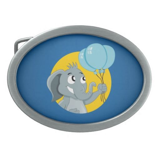 Elephant cartoon belt buckles