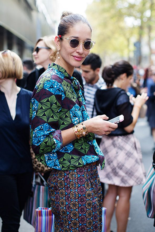 On the Street... After Dolce & Gabbana, Milan | The Sartorialist | Monday, November 3, 2014