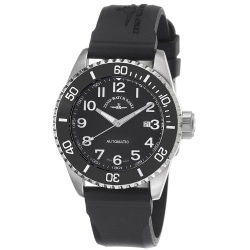 Zeno Men's 6492-2824-A1 Divers Black Rubber Strap Watch Zeno. Save 42 Off!. $493.00. •Swiss automatic movement•Stainless steel case•Sapphire crystal•Divers watch•Water-resistant to 200 M (660 feet)