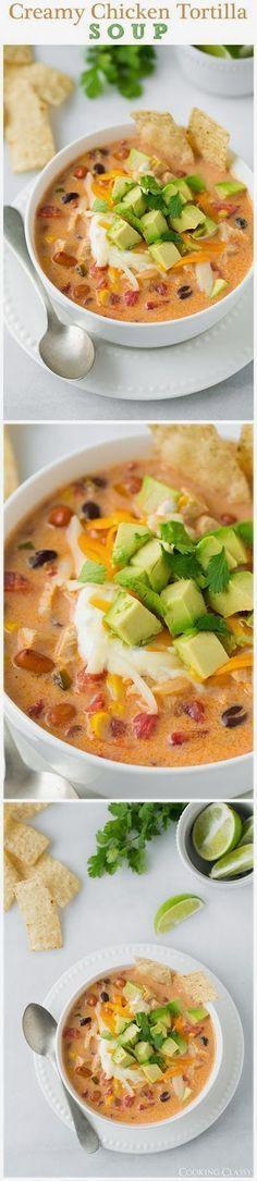 Creamy Chicken Tortilla Soup  #casserole #potatoes #recipe